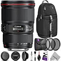 Canon EF 16-35mm f/4L IS USM Lens w/ Advanced Photo and Travel Bundle - Includes: Altura Photo Sling Backpack, UV-CPL-ND4, Camera Cleaning Set