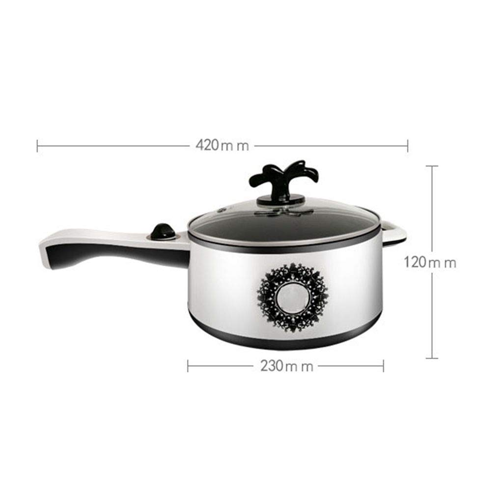 2L Electric Wok Versatile Mini Electric Hot Pot Dormitory Bedroom Stainless Steel Non-Stick Electric Cooker Use for Steak, Egg, Fried Rice, Ramen, Oatmeal by TSOICONN (Image #7)