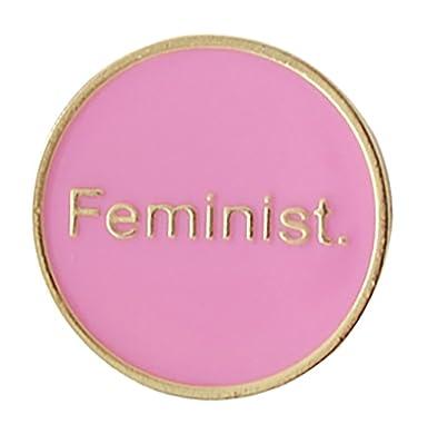 Amazon com: Feminist Enamel Pin: Clothing