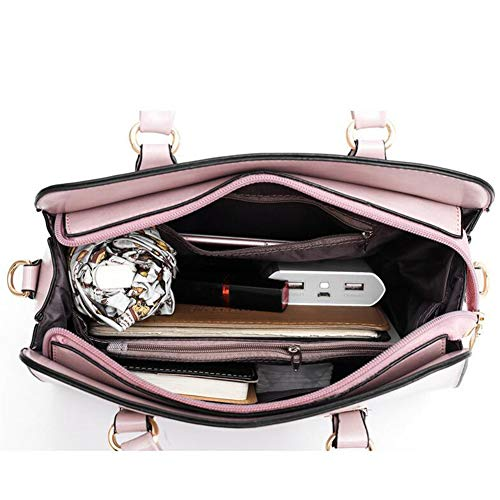 Fourre Tendance 29 Pour 13 Marron À 21cm Femme Sac Bandoulière pink Pu tout Jhkj Simple Pièces Trois Main Pink Sauvage 6nCx85wCqX