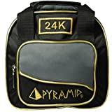 Pyramid Path Plus One Spare Tote Bowling Bag (Black/Gold/Grey)