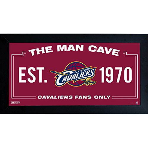 NBA Cleveland Cavaliers Man Cave Sign 6 x 12 Framed - Sign Team