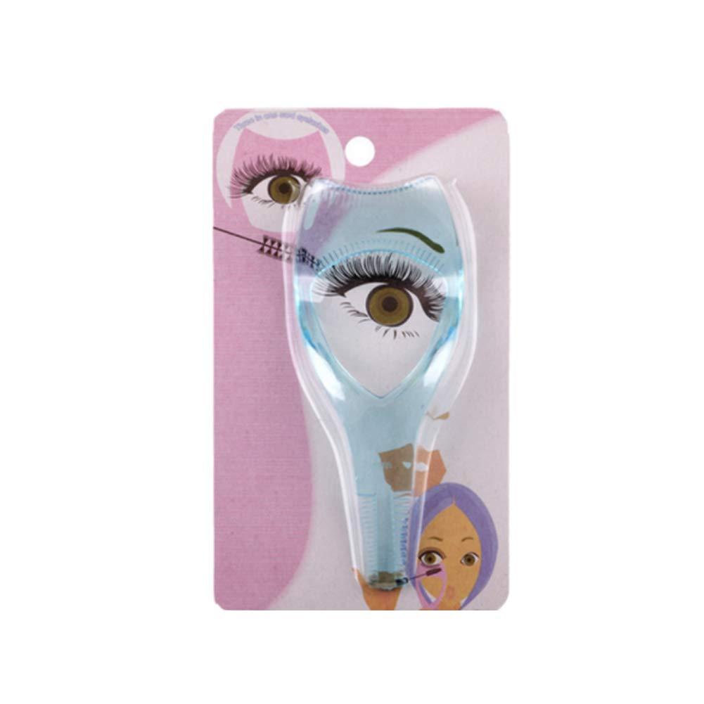 Rizador de pestañas rimel aplicador de pestañas guía de maquillaje transparente damas y niñas azules tarjetas de plástico de pestañas Xiton