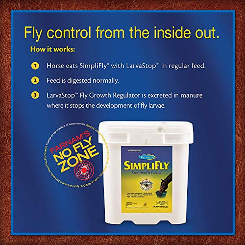 Farnam SimpliFly Feed-Thru Fly Control for Horses, Breaks and Prevents the Fly Life Cycle, 10 pound by Farnam (Image #3)
