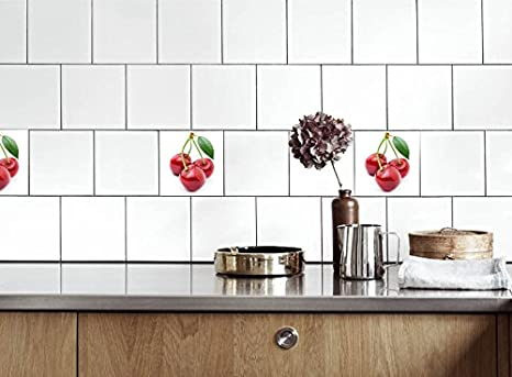 Adesivi per piastrelle cucina ciliegia dimensioni della pellicola