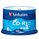 Verbatim CD-R 700MB 80 Minute 52x Recordable Disc - 50 Pack