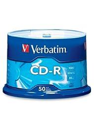 Verbatim CD-R 700MB 80 Minute 52x Recordable Disc - 50 Pack S...