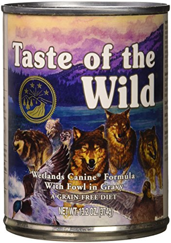 Taste of the Wild Wetlands Grain Free Natural Protein Real Meat Recipe Natural Wet Canned Dog Food, a Stew with Real Roasted Duck 13.2oz, Case of 12