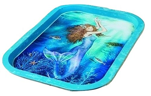 (Ohio Wholesale Magical Mermaid Food Safe Metal Tin Dinner Tray Tabletop Design Home Decor Vibrant Accent 11