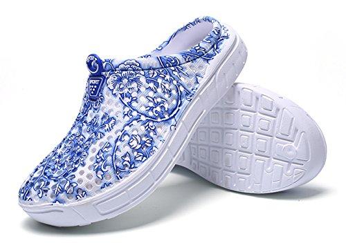 Mesh Blue Shoes Slip Drying Slippers Clog Garden Kedera Flower Footwear Anti Shoes Summer Womens Quick 8pOwSxq