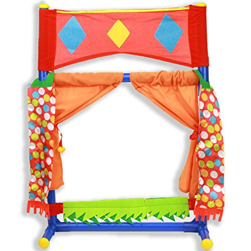 (IQ Toys Table Top Puppet Theater Fold-able & Easy to Store)