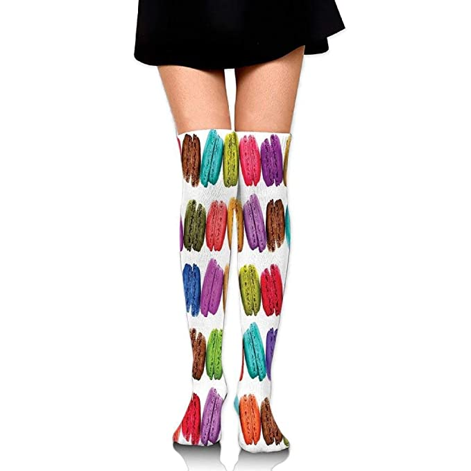 c4e62bb7b ZOZGETU Long Socks French Macarons In A Row Coffee Shop Cookies ...