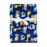 Baby Gear Plush Velboa Ultra Soft Baby Boys Blanket 30 x 40, Safari Boy