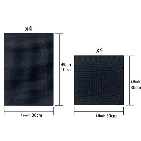 suministros de bricolaje 4 piezas de tela Aida 11 unidades Classic Reserve Negro Tela de punto de cruz para trabajos de aguja 30 cm /× 45 cm B