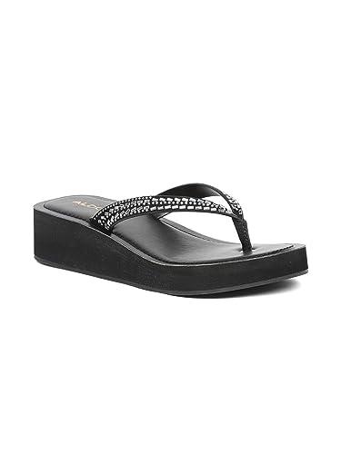 b1873e97a22 Aldo Sandals For Women, 39 EU, Black: Amazon.ae