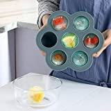 HHmei 1Pc Covered Ice Tray Set with 7 Ice Cubes