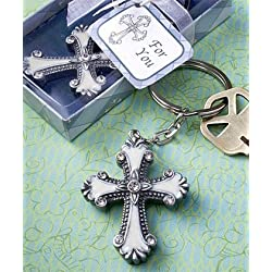 Cross design keychain favors, 30