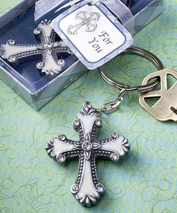 (Cross design keychain favors,)