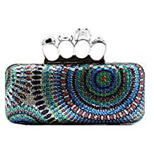 Snowskite Women's Fully Sequined Wedding Evening Formal Cocktail Ring Clutch Purse
