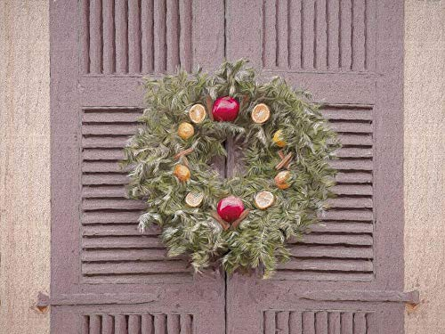 The Christmas Wreath Colonial Williamsburg by Leslie Montgomery Art Print, 11 x 8 inches (Williamsburg Christmas Wreaths)