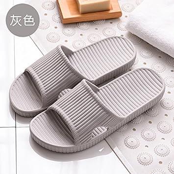 fankou Estancia Estival Parejas Zapatillas Chica del Dormitorio, Cuarto de Baño Casa Baño Grueso Antideslizante Zapatillas Verano Macho,41-42, ...