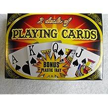 2 Decks of Playing Cards with Bonus plastic tray