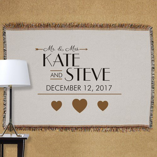GiftsForYouNow Personalized Golden Hearts Wedding