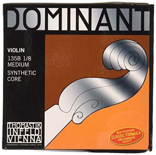String Chrome Steel - Thomastik-Infeld 135B.18 Dominant Violin Strings, Complete Set, 135B, 1/8 Size, With Chrome Steel Ball End E String