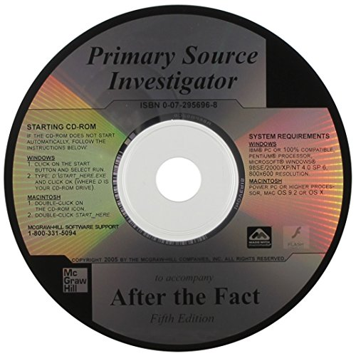 Primary Source Investigator CD to Accompany After the Fact
