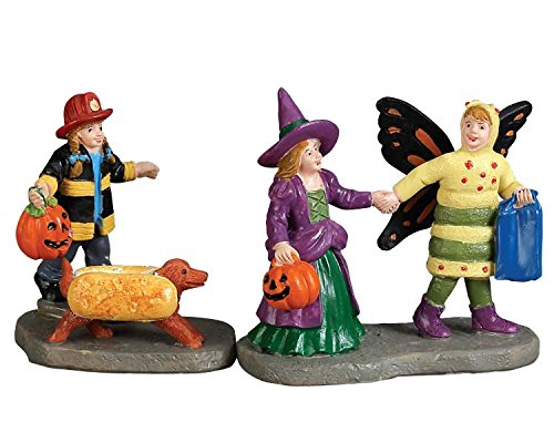 Lemax Spooky Town Collection Ready, Set, Treats Set of 2  #72492