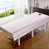 Massage table sheet,waterproof sheets,spa linens,set of 2,waterproof oil and non-slip sheets/beauty salon body massage institute special bed linen-A 115x190cm(45x75inch)