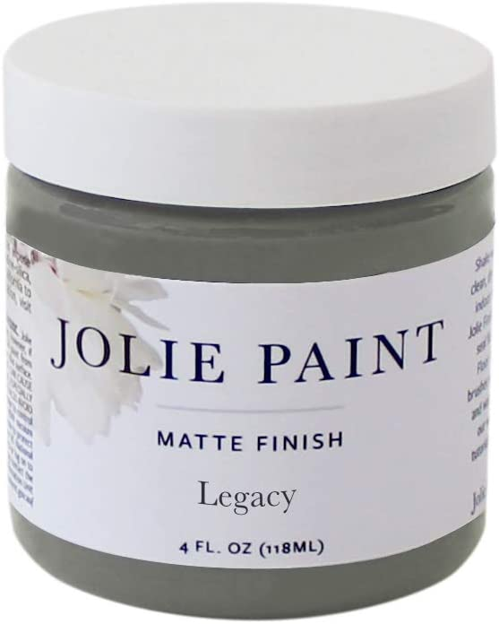 Jolie Paint - Premier Chalk Finish Paint - Matte Finish Paint for Furniture, cabinets, Floors, Walls, Home Decor and Accessories - Water-Based, Non-Toxic - Legacy - 4 oz (Sample Size)