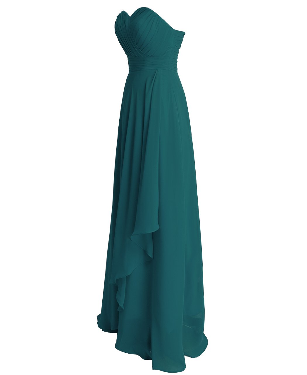 FAIRY COUPLE Chiffon Strapless Bridesmaids Dress D0072 at Amazon ...