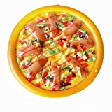 Transcend11 Fake Ham Pizza Faux Simulation Lifelike Meat Food Home House Party Kitchen Cabinet Desk Decoration Hotel Store Display Model Photography Props Kids Play Food Toy