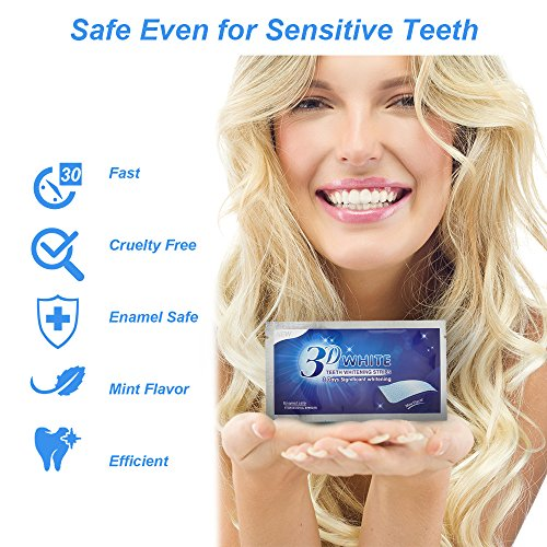 Teeth Whitening Strips, Herwiss 3D White Whitestrips with Mint Flavor for Gum Health and Refresh Breath, Dental Whitener Kit Elastic Gels for Teeth Stain Removal - 28pcs 14 Treatments for Teeth Care by Herwiss (Image #2)