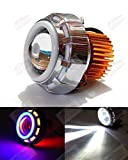 Autosun Projector Lamp Led Headlight Lens Projector ( High Beam, Low Beam, Flasher Function) For - All Bikes (Blue ,Red And White)