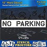 Pavement Marking Stencils - 12 inch NO Parking Stencil - 12'' x 98'' x 1/8'' (128 mil) - Pro-Grade