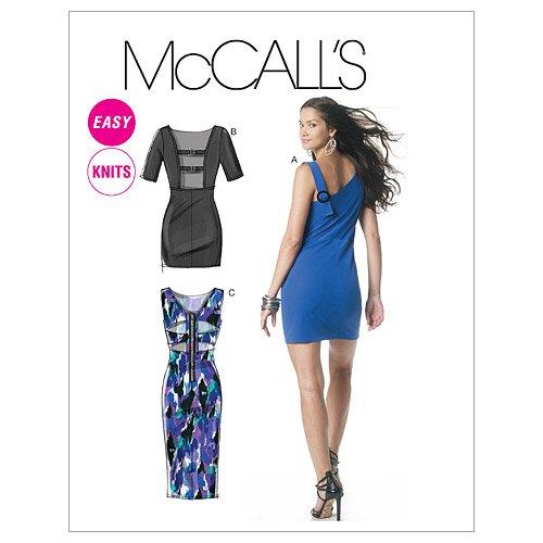 (McCall's Pattern M6281, Misses' Knit Dresses, Size E5 (14-16-18-20-22))