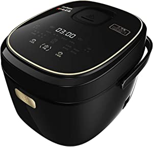 Joydeem Electric Rice Cooker FD30AE with Ceramic Inner Pot, 6-cup(uncooked),Porridge and Soup maker,Black