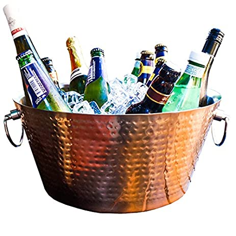 reviews drink with beverage and finish barrel brushed gold bash tub crate