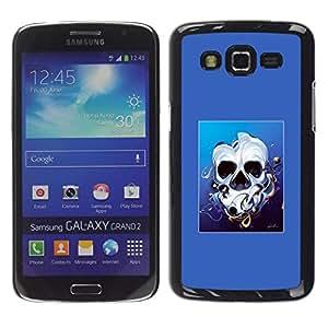 // PHONE CASE GIFT // Duro Estuche protector PC Cáscara Plástico Carcasa Funda Hard Protective Case for Samsung Galaxy Grand 2 / Derretido cara del cráneo /