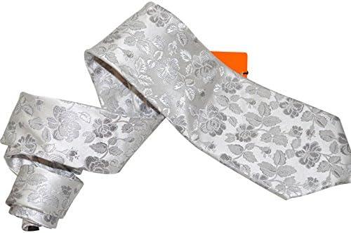TIE Health UK Corbata Blanca Floral Vestido de Hombre Traje de ...