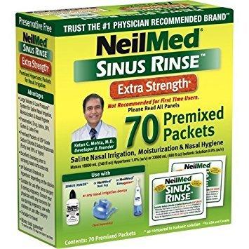 (Neilmed Sinus Rinse Extra Strength Hypertonic 70 Packets (Pack of 2))