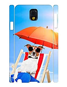 Umbrella Theme Smart Phone Case With Funny Dog Image Solid Case Cover for Samsung Galaxy Note 3 N9005 wangjiang maoyi