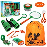 11 Pack Kids Outdoor Explorer Kit – OOTSR Kids Adventure Kit Fun Educational Toys Gift for Boys Girls Birthday Present, Kids Binoculars Set for Camping Hiking Pretend Play