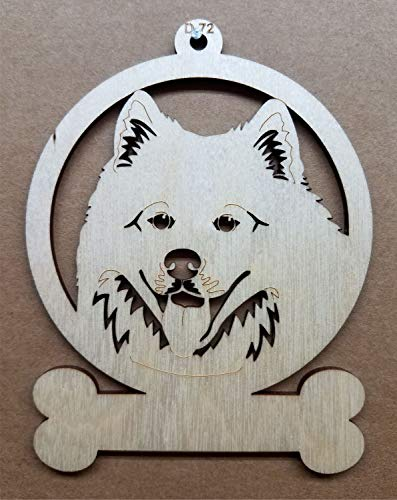 (Samoyed Dog Wooden Christmas Ornament Customizable or Personalized)