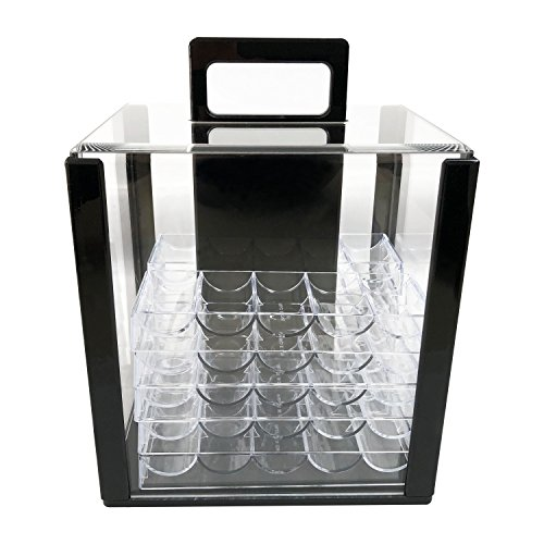 YH Poker 1000 Chip Clear Acrylic Poker Chip Carrier-Includes 10 Chip Racks by YH Poker