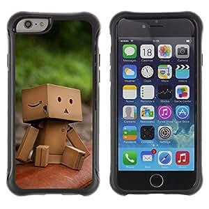 Pulsar Defender Series Tpu silicona Carcasa Funda Case para Apple iPhone 6(4.7 inches) , Cute Paper Box Man
