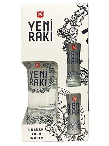 Yeni Raki 0,7 Liter in Geschenkverpackung mit 2 Gläsern
