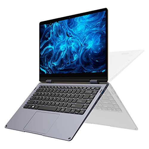 2019 XIDU PhilBook Max 14.1-inch Touch-Screen Laptop, Full HD 2-in-1 Convertible Laptop, Intel Apollo Lake, 6GB RAM, 128GB SSD, Backlit Keyboard, WiFi, Webcam, Bluetooth, HDMI, Windows 10 Ultrabook